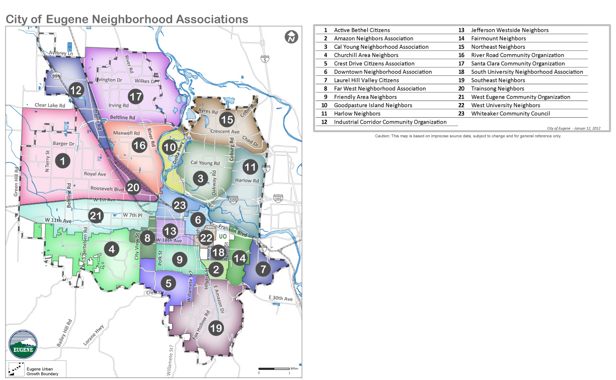 Eugene Area Neighborhood Organizations